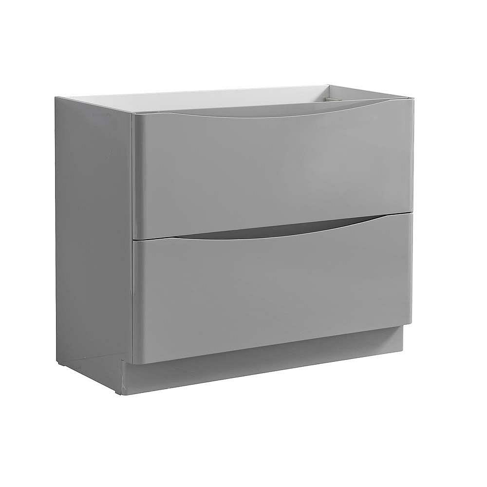 Fresca Tuscany 40 inch Glossy Gray Free Standing Modern Bathroom Vanity