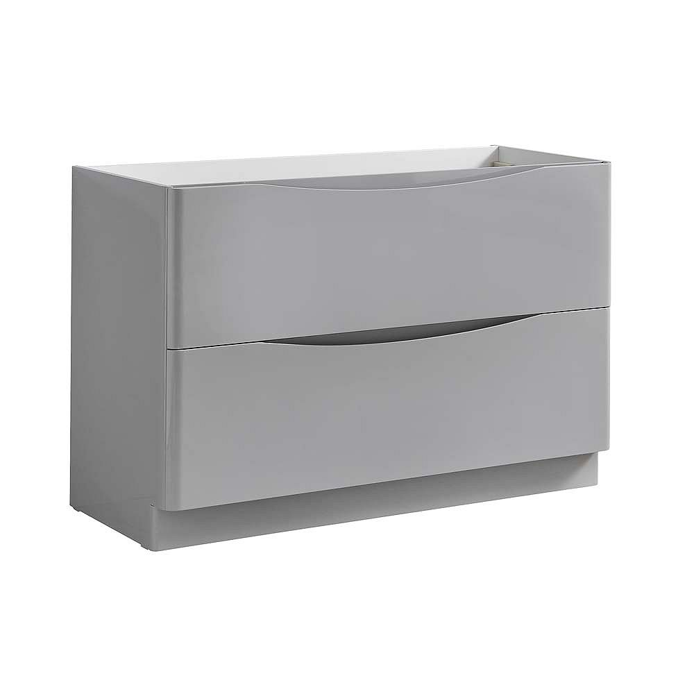 Fresca Tuscany 48 inch Glossy Gray Free Standing Modern Bathroom Vanity
