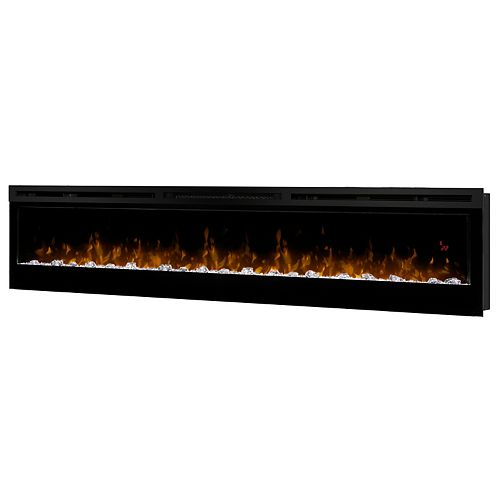 "Dimplex Dimplex Prism Series 74"" Wall-Mounted Electric Fireplace with Acrylic Ember Bed"