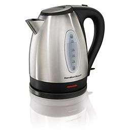 Cord-Free Serving 1.7 Liter Electric Kettle in Stainless Steel