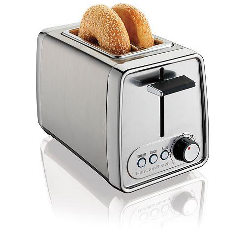 Modern 2-Slice Toaster in Chrome