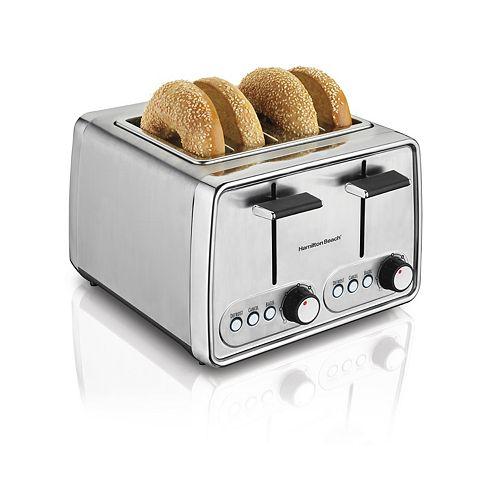 Modern 4-Slice Toaster in Chrome