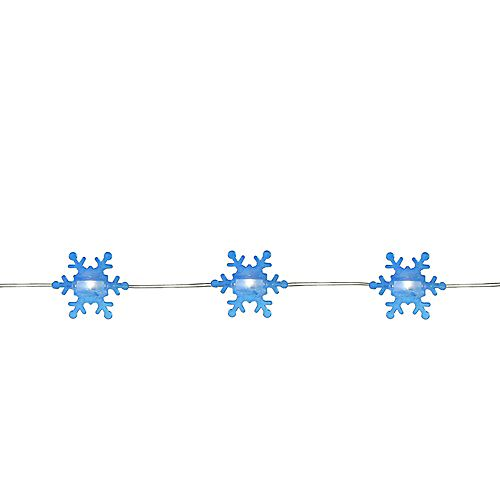 20 Warm White Snowflake Shaped LED Christmas Fairy Lights - 6 ft Copper Wire