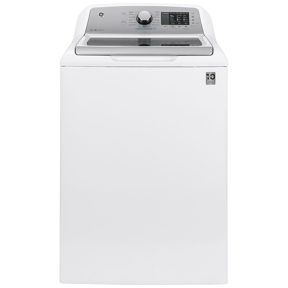GE 5.5 cu. ft. (IEC) Capacity Top Load Washer with FlexDispense in White