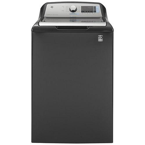 GE 5.8 cu. ft. (IEC) High-Efficiency Top Load Washer with Smart Dispense in Diamond Gray