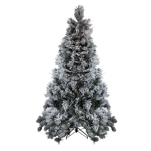 Northlight 7.5' Flocked Black Spruce Artificial Christmas Tree - Unlit