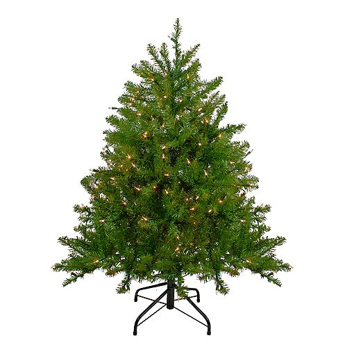 Northlight 4' Pre-Lit Northern Pine Full Artificial Christmas Tree - Clear Lights