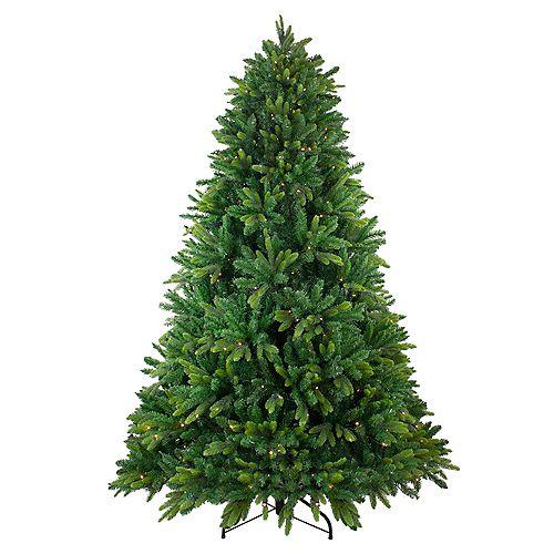 Northlight 7.5' Pre-Lit Gunnison Pine Artificial Christmas Tree - Warm White LED Lights