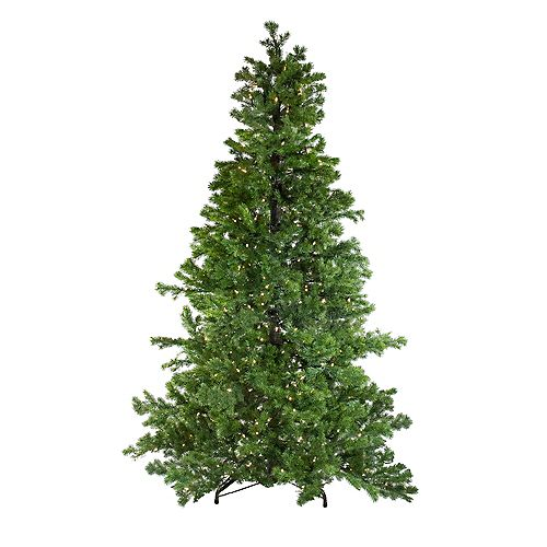 Northlight 7.5' Pre-Lit Layered Pine Instant Power Artificial Christmas Tree - Dual Color LED Lights