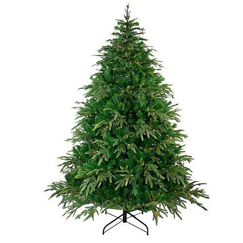 Northlight 7.5' Pre-Lit Roosevelt Fir Artificial Christmas Tree - Warm White LED Lights
