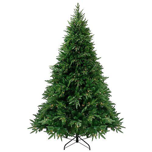 Northlight 7.5' Pre-Lit Silverthorne Fir Artificial Christmas Tree - Clear Lights