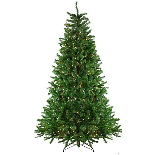 7.5' Pre-Lit Slim Waterton Spruce Artificial Christmas Tree - Clear Lights