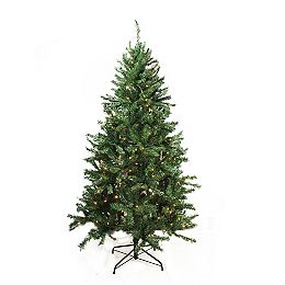 7.5' Pre-Lit Traditional Mixed Pine Artificial Christmas Tree - Clear Lights