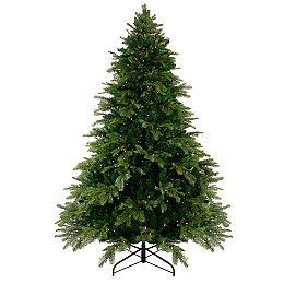 7.5' Pre-Lit Woodcrest Pine Artificial Christmas Tree - Warm White LED Lights