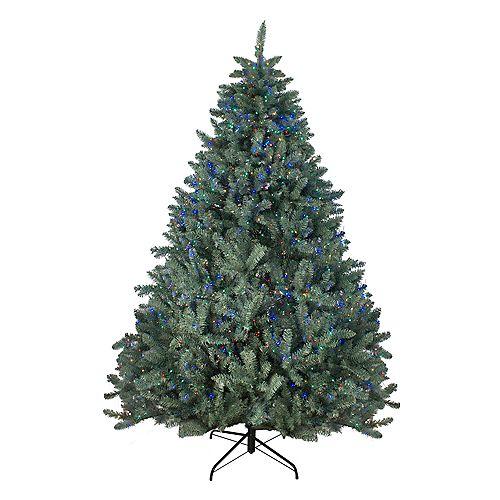 Northlight 7.5' Pre-Lit Colorado Spruce Artificial Christmas Tree - Multi Color LED Lights