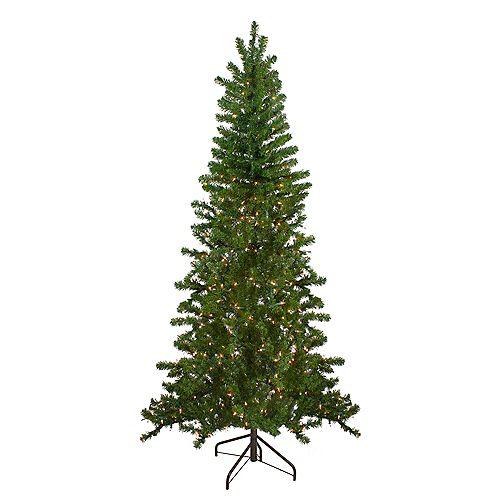 6.5' illuminée Arbre de Noël mur canadien pin artificiel - lumières claires