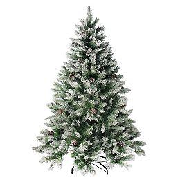 6' Medium Flocked Angel Pine Artificial Christmas Tree - Unlit