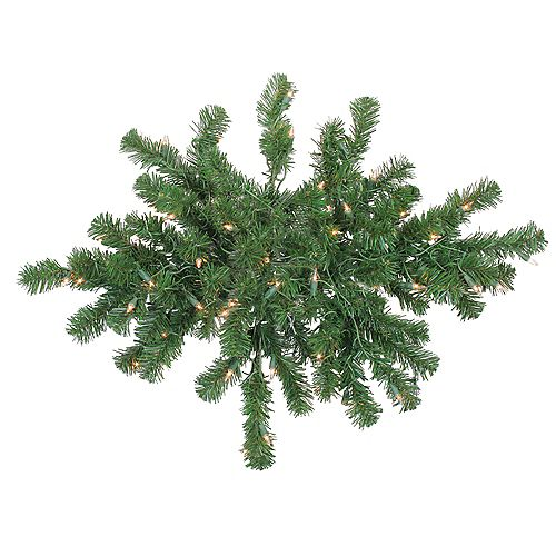 Northlight 28 Pre-Lit Windsor Pine Artificial Christmas Swag - Clear Lights