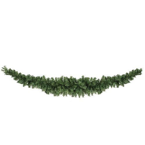 """Northlight 13"""" Green Canadian Pine Artificial Christmas Swag - Unlit"""