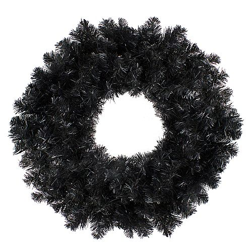 "Northlight 24"" Black Colorado Spruce Artificial Christmas Wreath - Unlit"