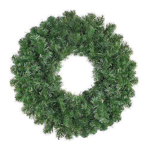 """Northlight 24"""" Colorado Spruce Artificial Christmas Wreath - Unlit"""
