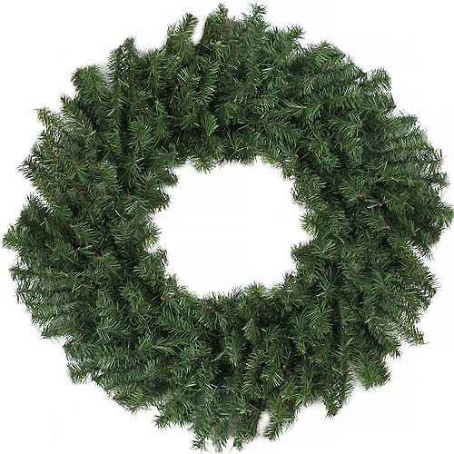 Canadian Pine Artificial Christmas Wreath - 24-Inch  Unlit