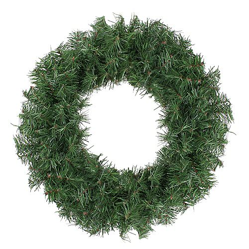 """Northlight 18"""" Canadian Pine Artificial Christmas Wreath - Unlit"""