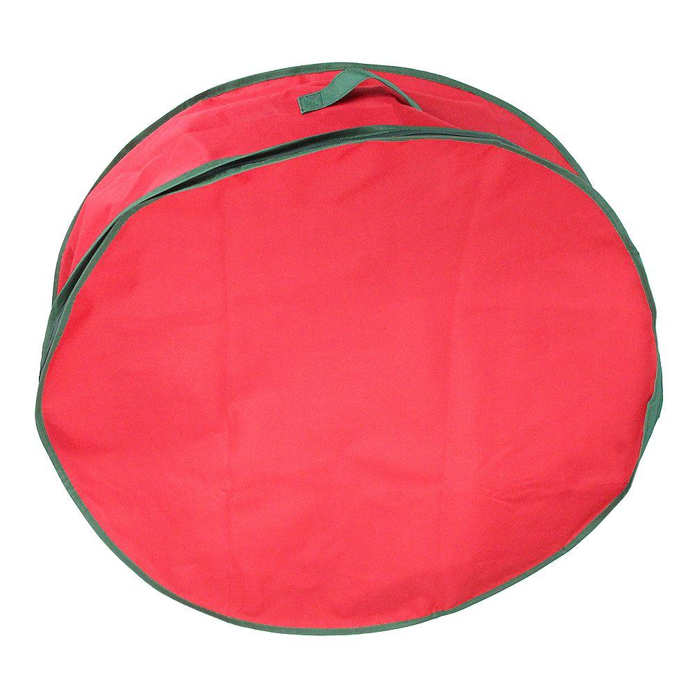 """Northlight 24"""" Sac guirlande de Noël rouge et vert de stockage"""