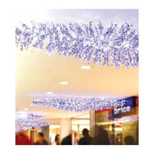 9' LED Lighted Silver Manhattan Lightspray Commercial Display Decoration