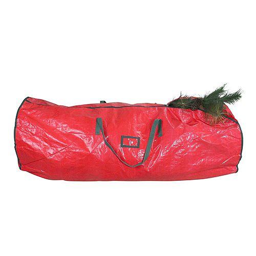 """53"""" Arbre de Noël rouge et vert artificielle sac de rangement"""
