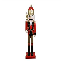 5' Red and White Commercial Size Christmas Nutcracker with Scepter