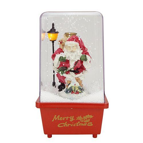 "11.5"" Musical Santa Claus Christmas Snow Globe Glittering Snow Dome"