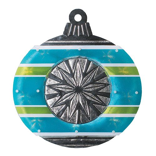 """15.5"""" Blue and Green Christmas Window Silhouette Decoration"""