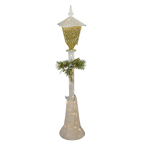 """48"""" Cool White LED Lighted Christmas Outdoor Lamp Post"""