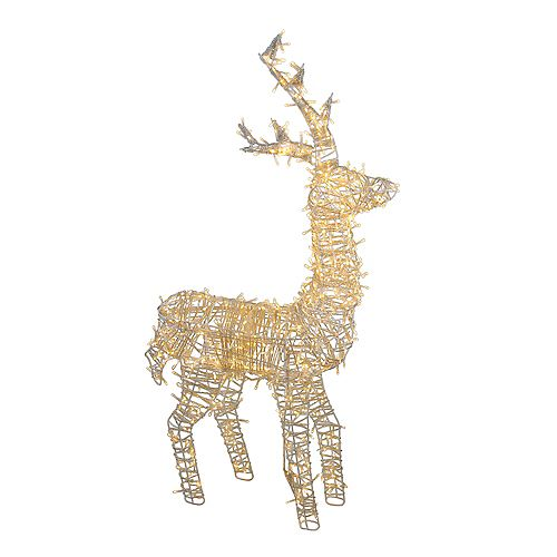 """48"""" LED Lighted Upright Standing Reindeer Outdoor Christmas Decoration"""