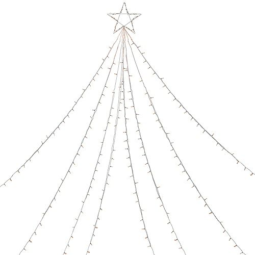 12' Clear Lighted Christmas Display Tree Outdoor Decoration