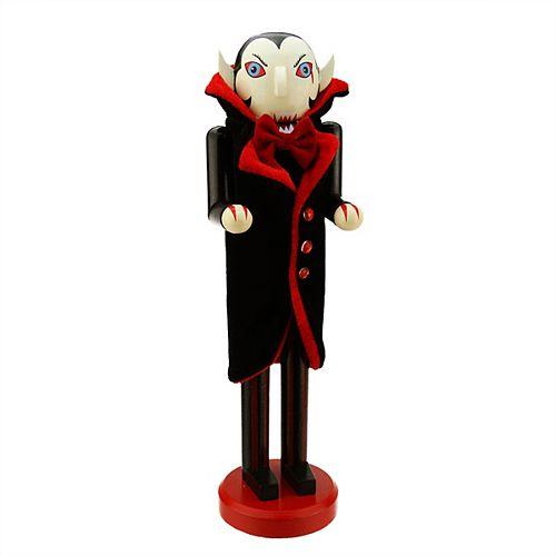 """14"""" noir et rouge Dracula Vampire Halloween en bois Casse-Noisette"""