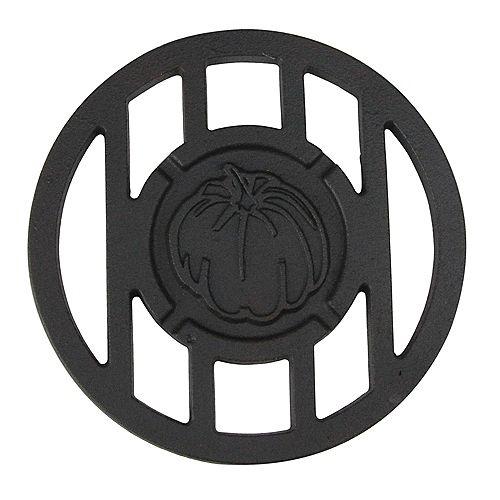 "CC Home Furnishings 5.5"" Black Halloween Harvest Inspired Pumpkin Round Cast Branding Grill Accessory"