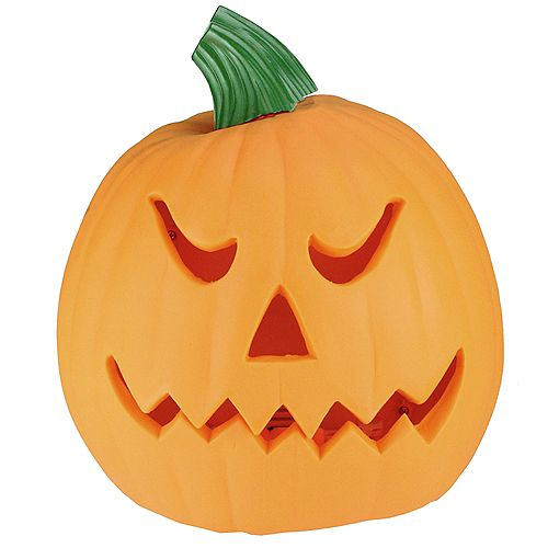 "9.75"" Orange and Green Animated Double-Sided Pumpkin Halloween Decor"