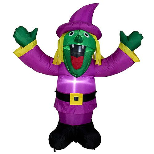 3.5' Inflatable Lighted Witch Halloween Outdoor Decoration