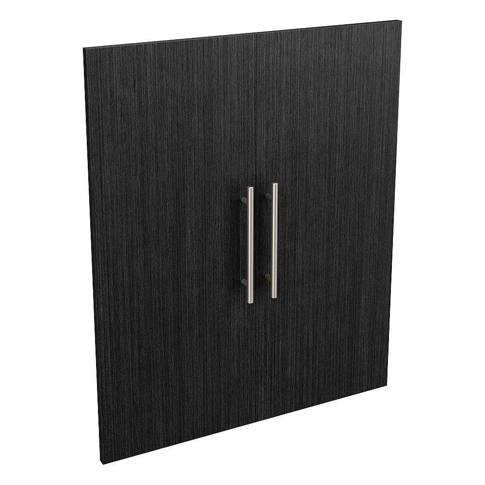 ClosetMaid Style+ 25 in. W x 30 in. H Noir Modern Melamine Closet System Door Kit