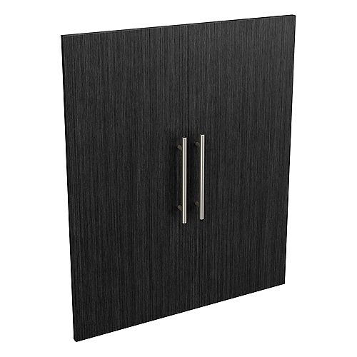 Style+ 25 in. W x 30 in. H Noir Modern Melamine Closet System Door Kit