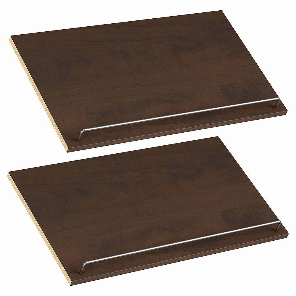 ClosetMaid Style+ 25 in. W Chocolate Melamine Shoe Shelf Kit (2-Pack)