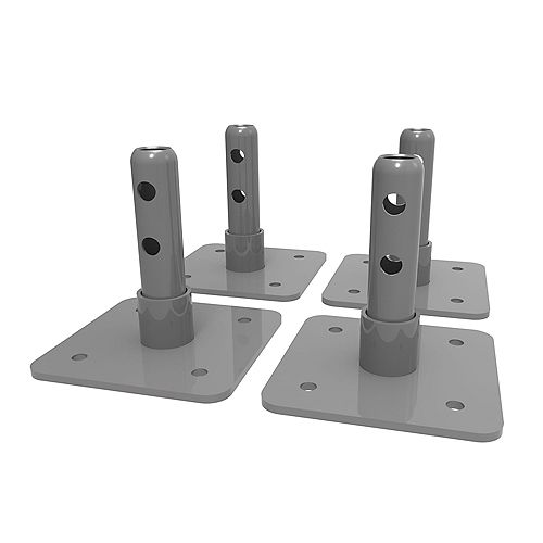Metaltech Base Plates for 6 ft. Scaffold