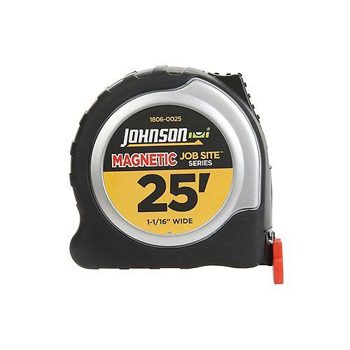 Johnson level 25ft. x 1-1/16 inch Job Site Magnetic  Power Tape