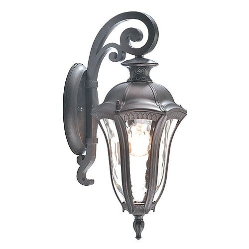 Sutton Collection 1-Light Antique Brown Outdoor Wall Down Light