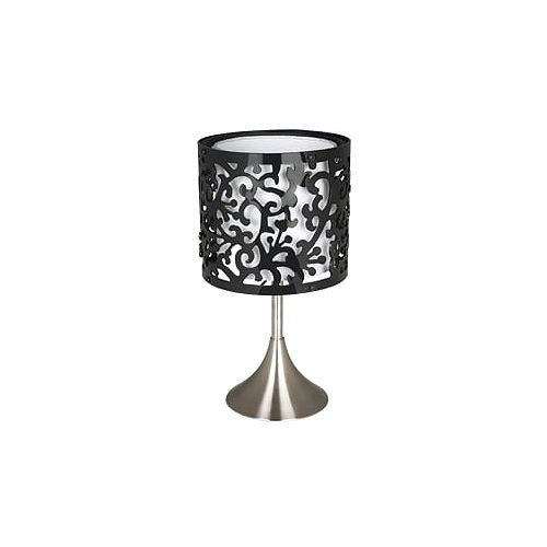 Lampe de table satin nickel à 1 lumière de la collection Chelsea