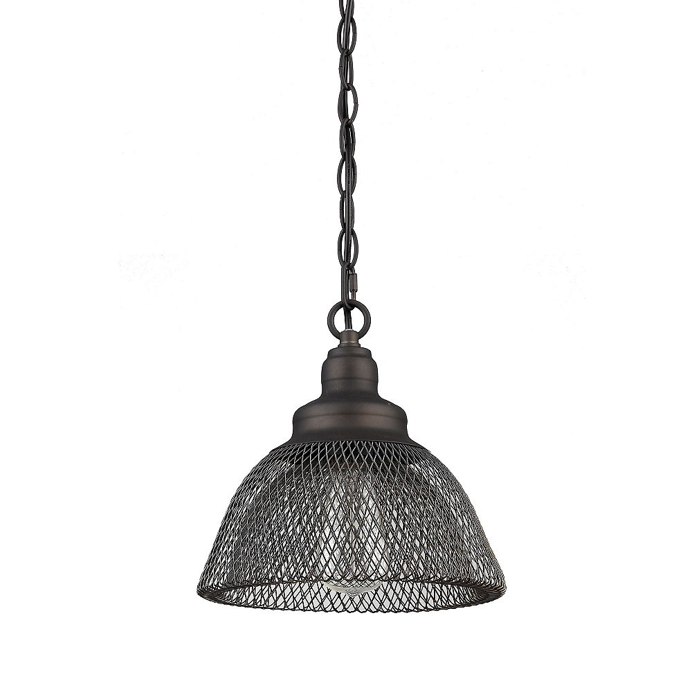 Beldi Inc. Bali Collection 1-Light Black Pendant Light