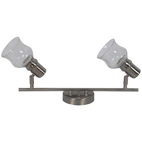 Beldi Inc. Rail d'éclairage satin nickel à 2 lumières de la collection Vieste