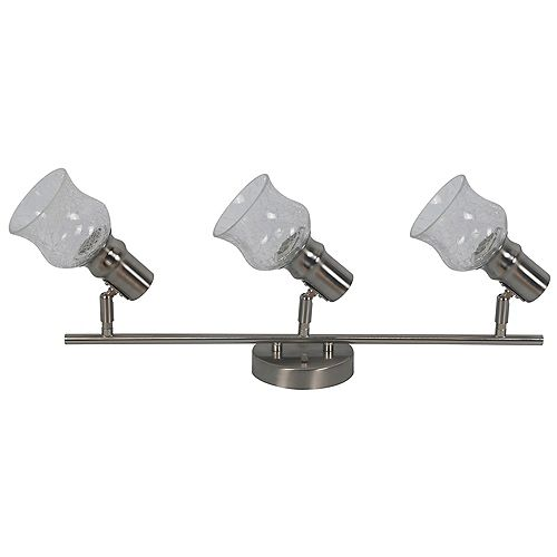 Beldi Inc. Vieste Collection 3-Light Satin Nickel Track Lighting